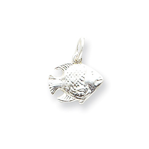 Sterling Silver 1/2in Reversible Fish Charm