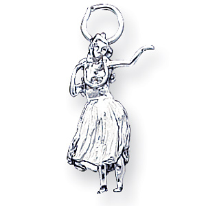 Sterling Silver Hula Dancer Charm