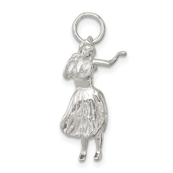 Sterling Silver Hula Dancer Charm