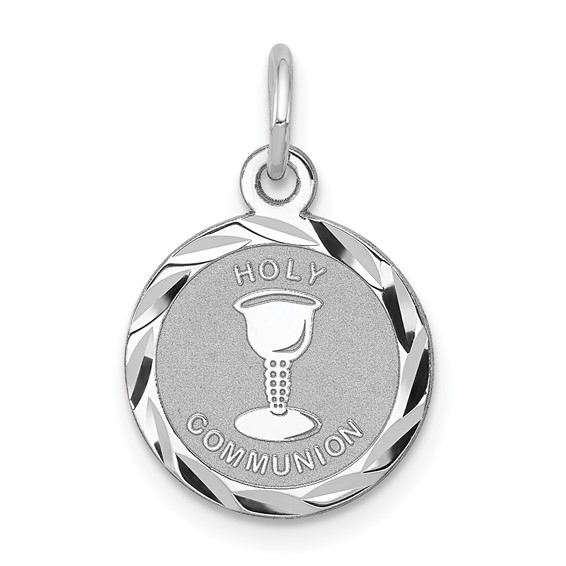 Sterling Silver 3/8in Petite Holy Communion Charm