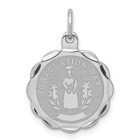 Sterling Silver 5/8in Graduation Day Disc Charm