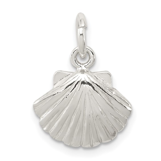 Sterling Silver 7/16in Shell Charm