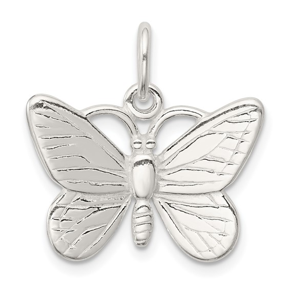 Sterling Silver 5/8in 3-D Butterfly Charm
