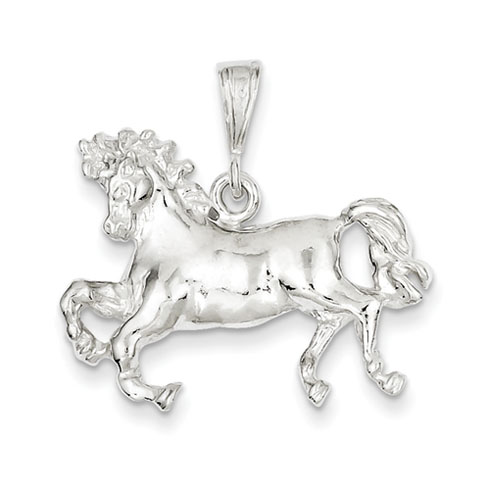 Sterling Silver 1in Galloping Horse Charm
