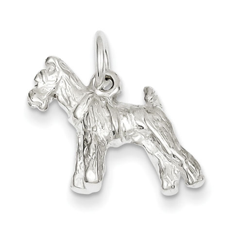 Sterling Silver 5/8in Schnauzer Charm