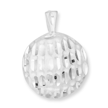 Sterling Silver Golf Ball Pendant 3/4in