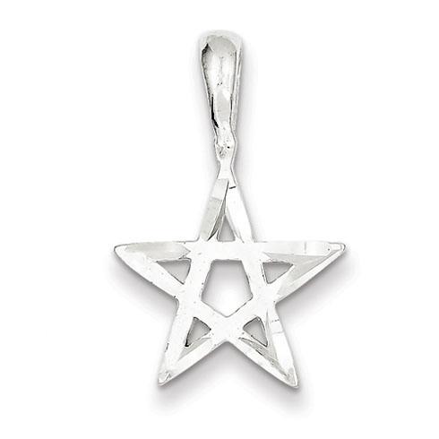 Star Pendant 5/8in - Sterling Silver