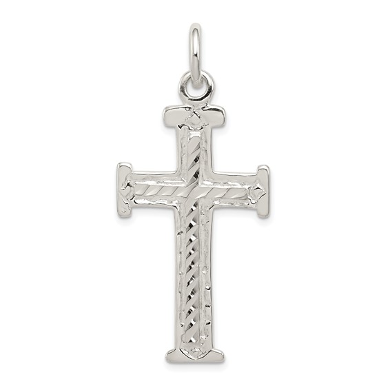 1 3/4in Filigree Cross - Sterling Silver