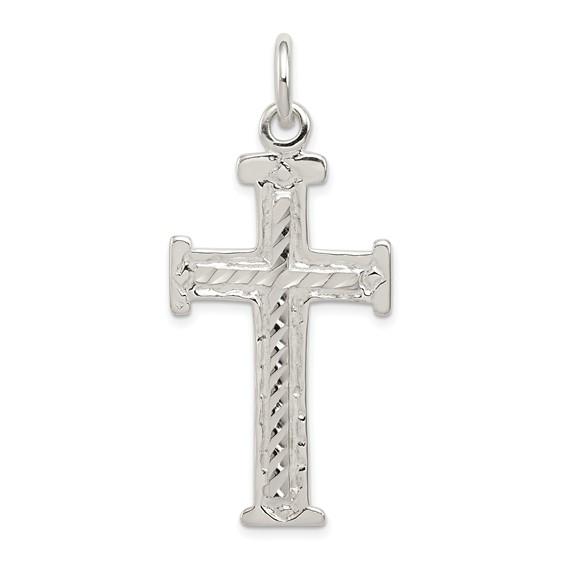 1 3/4in Filigree Cross - Sterling Silver
