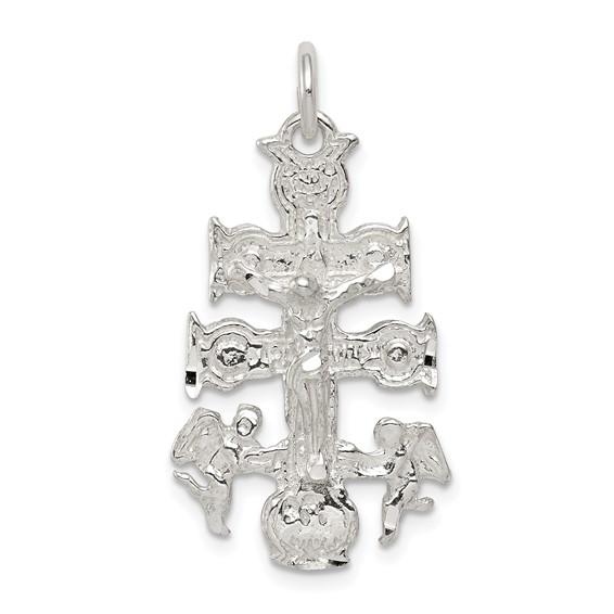 1 1/8in Cara Vaca Crucifix - Sterling Silver