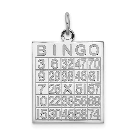 Sterling Silver Bingo Card Pendant
