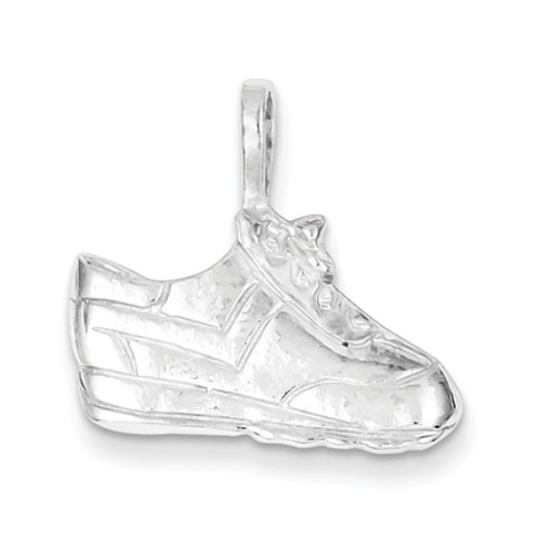 Sterling Silver 1/2in Tennis Shoe Charm