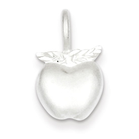 Sterling Silver Tiny Apple Charm