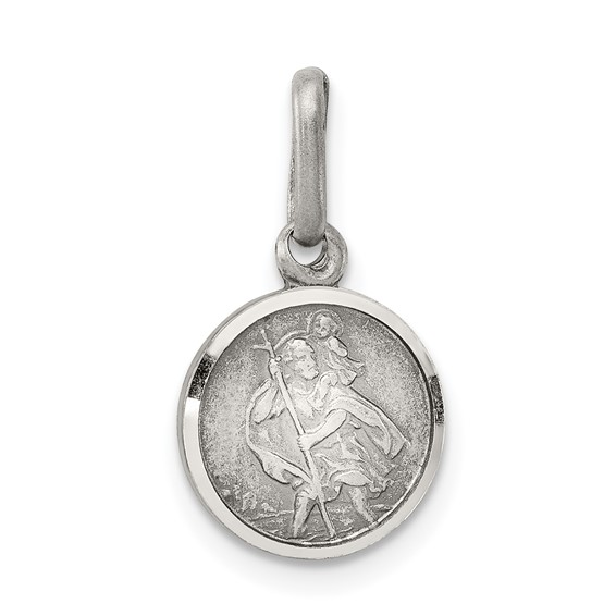 Sterling Silver 10mm Italian St. Christopher Charm