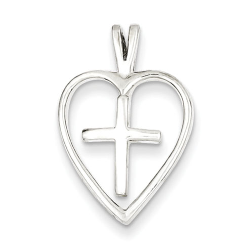 3/4in Cross Pendant - Sterling Silver