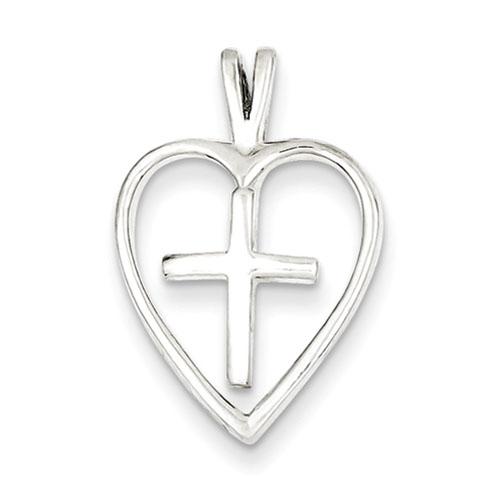 3/4in Cross Pendant - Sterling Silver