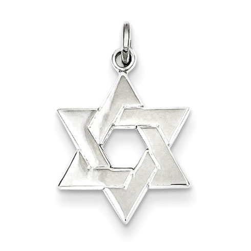 Star of David Pendant 5/8in Sterling Silver