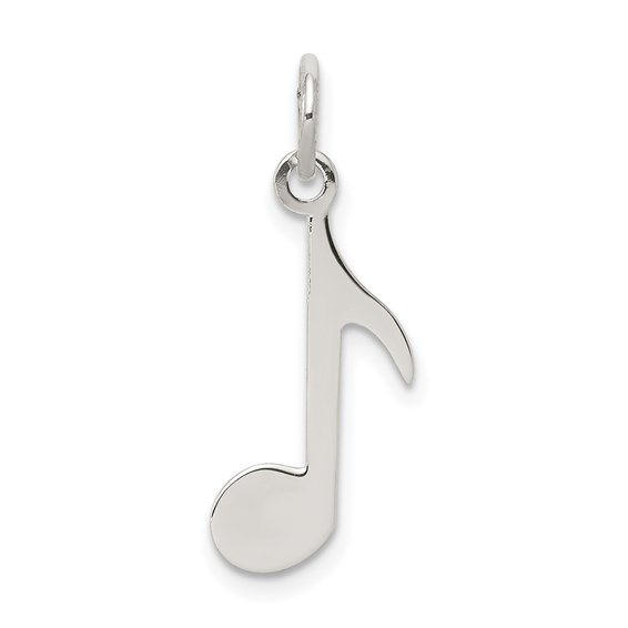 Sterling Silver 5/8in Musical Note Charm