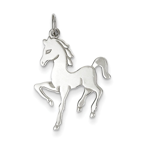 Sterling Silver Horse Disc