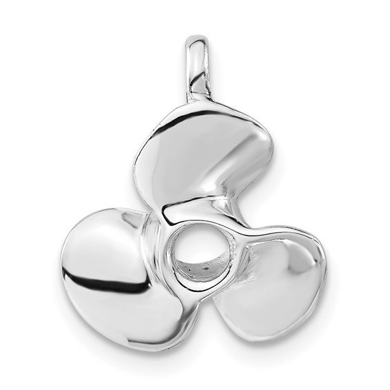 Sterling Silver 5/8in Propeller Charm