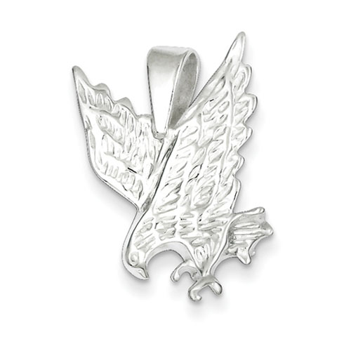 Sterling Silver 15/16in Diving Eagle Pendant
