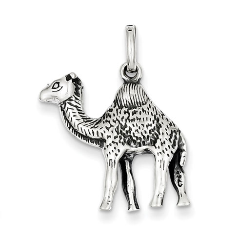 Sterling Silver Antiqued Camel Charm