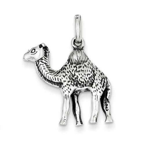 Sterling Silver Antiqued Camel Charm