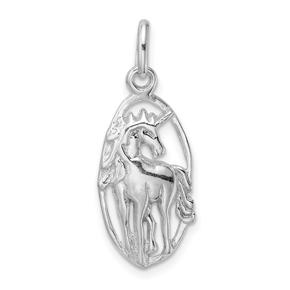 Sterling Silver Unicorn in Frame Charm