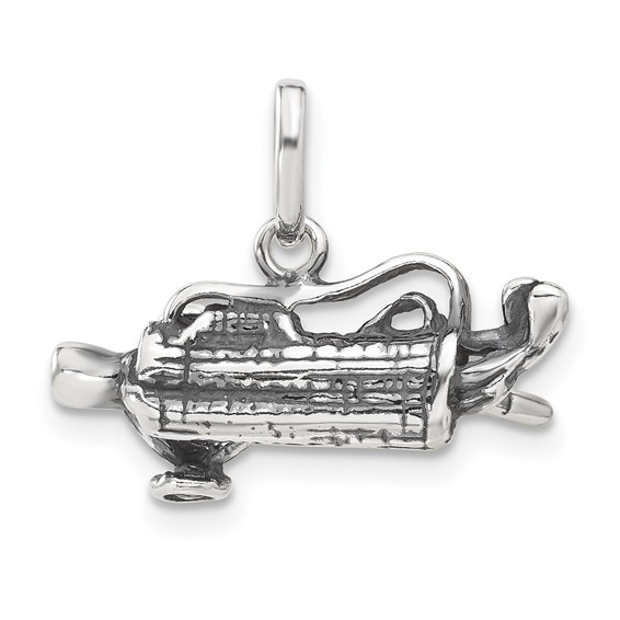 Sterling Silver Antiqued Golf Bag Charm