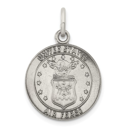U.S. Air Force 5/8in Charm - Sterling Silver