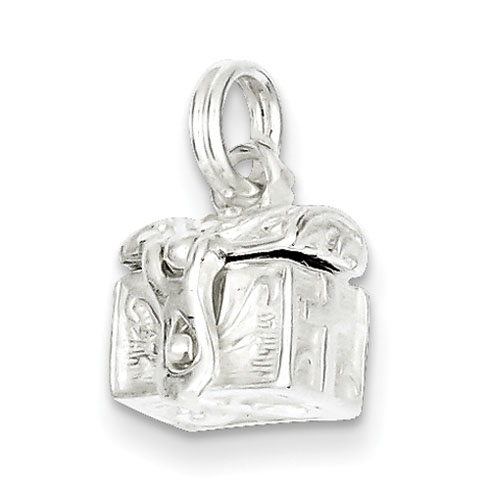 Sterling Silver 3/8in Cross Box Opens Charm