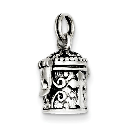 Sterling Silver Prayer Box with Cross Charm