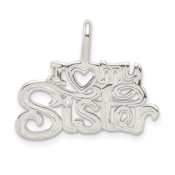 Sterling Silver I Heart My Sister Pendant