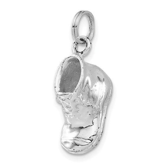 Sterling Silver Polished Baby Shoe Charm