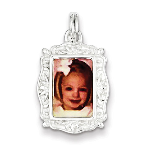 Picture Frame Charm 3/4in - Sterling Silver