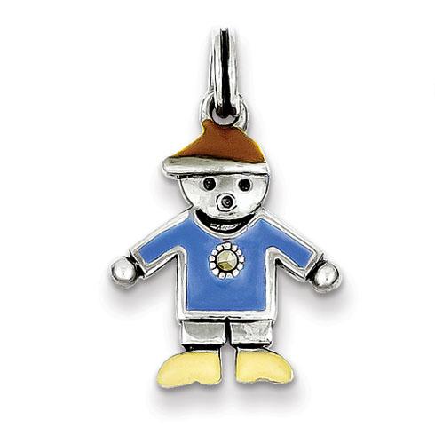 Sterling Silver Boy Charm