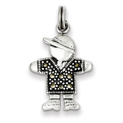 Sterling Silver Boy Charm with Hat