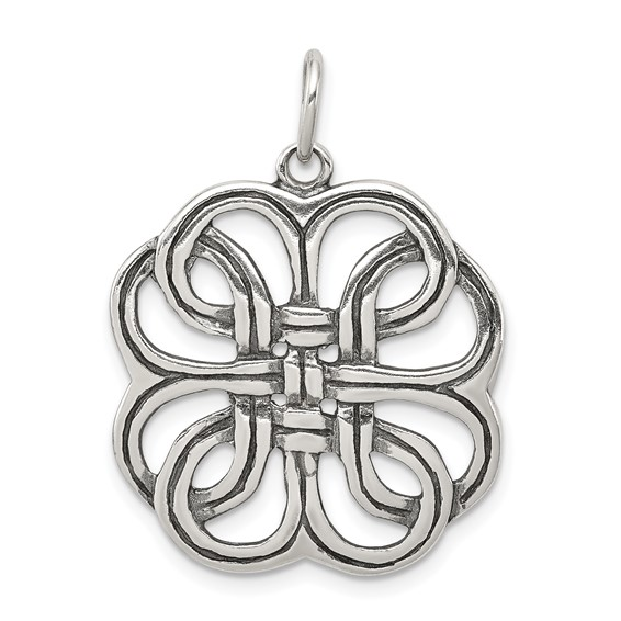 Sterling Silver Celtic Pendant 1in