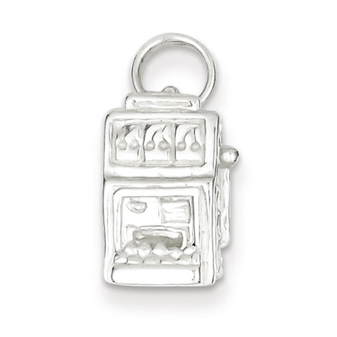 Sterling Silver Slot Machine Charm
