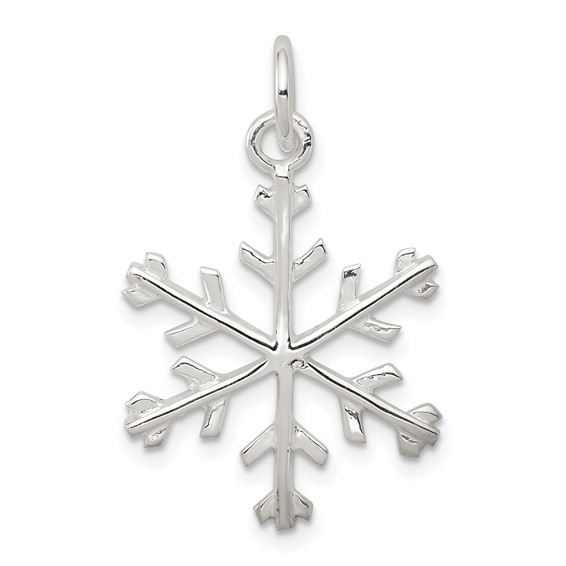 Sterling Silver 7/8in Snowflake Pendant