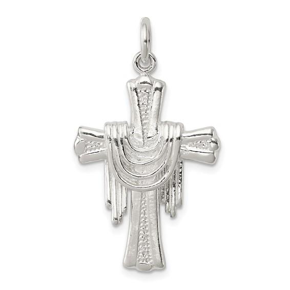 1 1/8in Cross - Sterling Silver