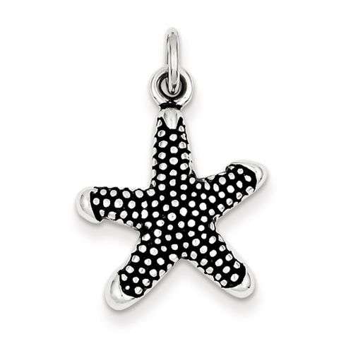 Sterling Silver 3/4in Antique Starfish Charm