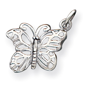 Sterling Silver Antique Butterfly Charm