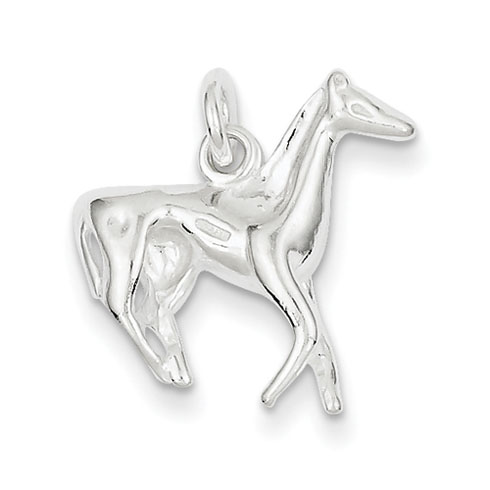 Sterling Silver 3-D 3/4in Horse Charm