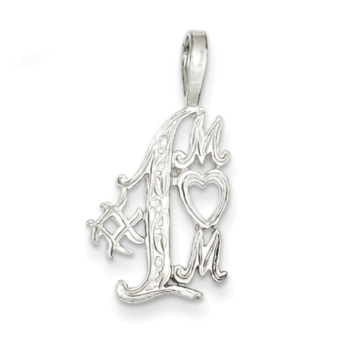 Sterling Silver #1 Mom Charm