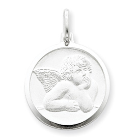 Angel Charm 3/4in - Sterling Silver