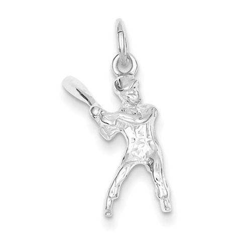 Sterling Silver Baseball Batter Charm