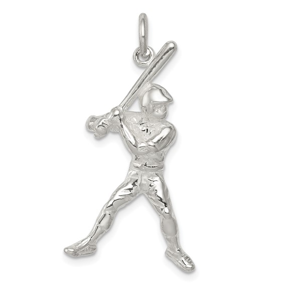 Sterling Silver Baseball Batter Charm