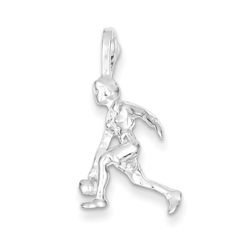 Sterling Silver Lady Bowler Charm