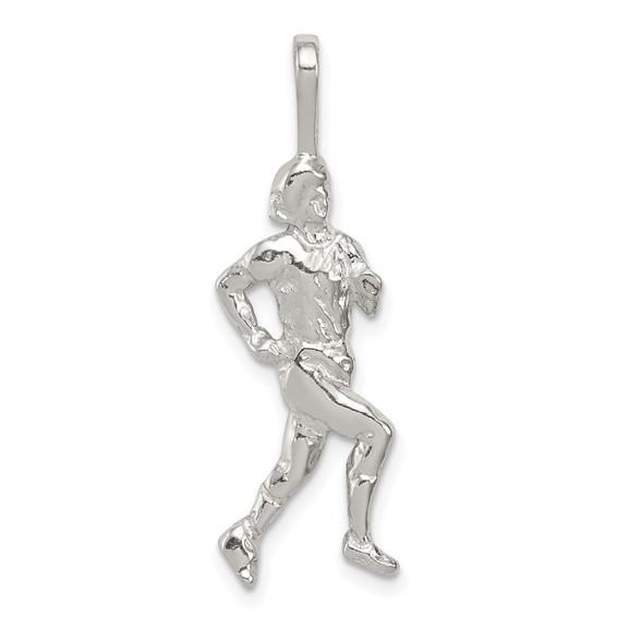 Sterling Silver Runner Pendant